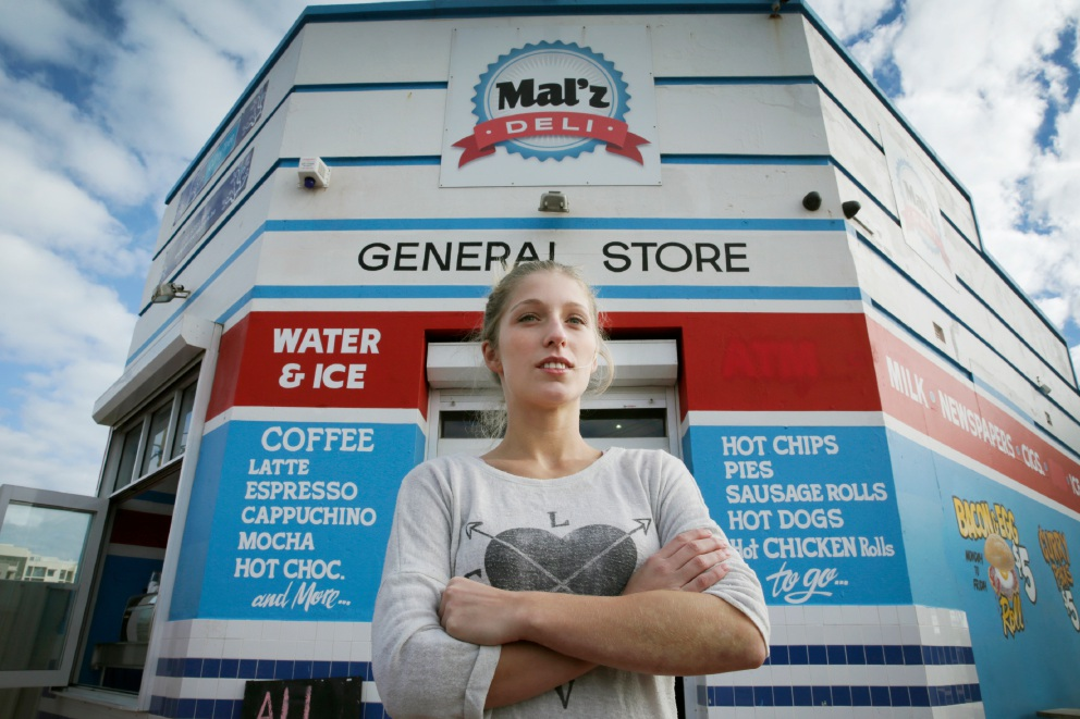 Deal reached... Janina Groger outside Mal'z Deli. Picture: Andrew Ritchie        www.communitypix.com.au   d454857