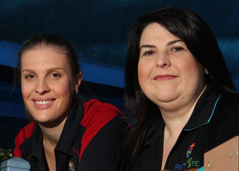 Rebecca NcNamara and Gaby Valente. Picture: Robin Kornet  d454370