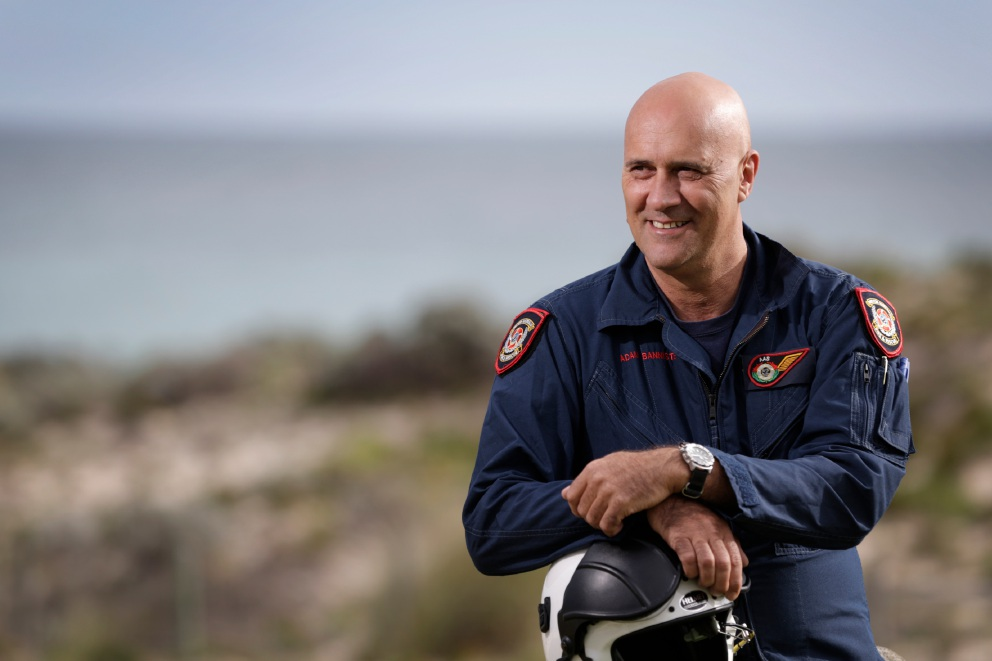 Adam Bannister has been awarded an Australian Fire Service Medal. Picture: Andrew Ritchie        www.communitypix.com.au   5363