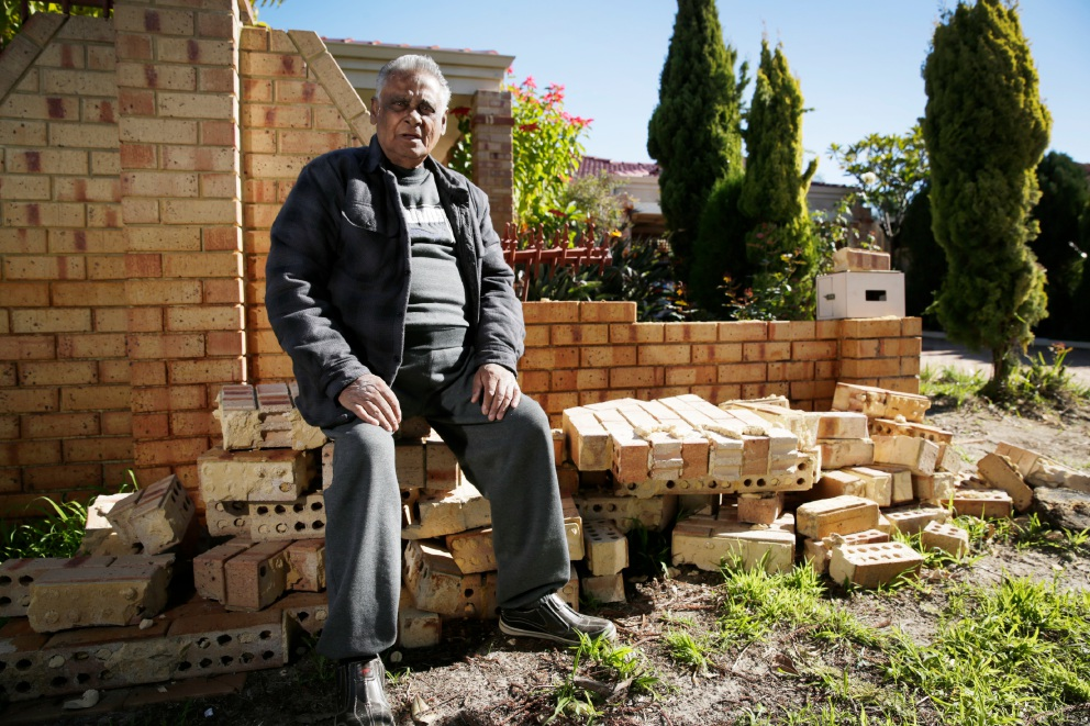 George David who recently had a driver plow through the front of his house. Picture: Andrew Ritchie    d454975