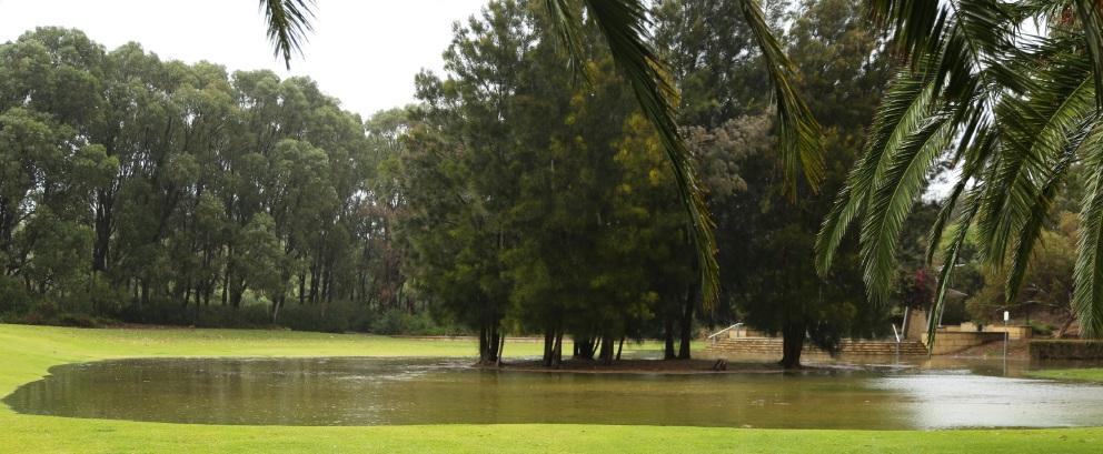 Yanchep's Old Nursery Park flooded after heavy rainfall