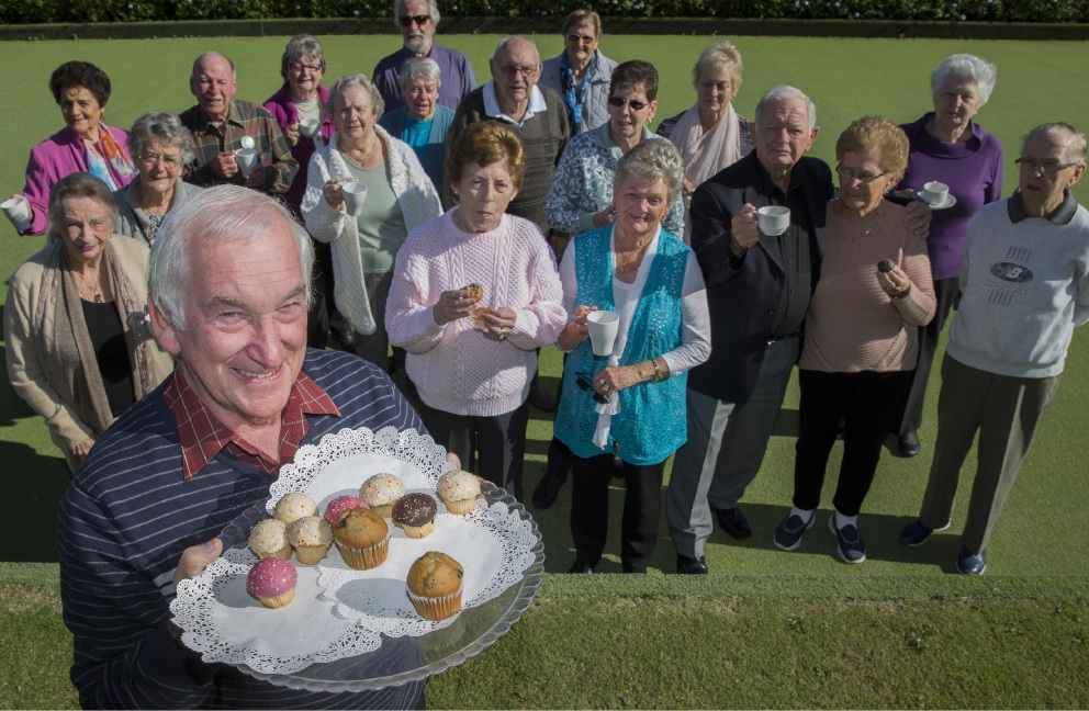 In service of others: Timberside Village residents raised $400 as they took part in the Cancer Council's Biggest Morning Tea.