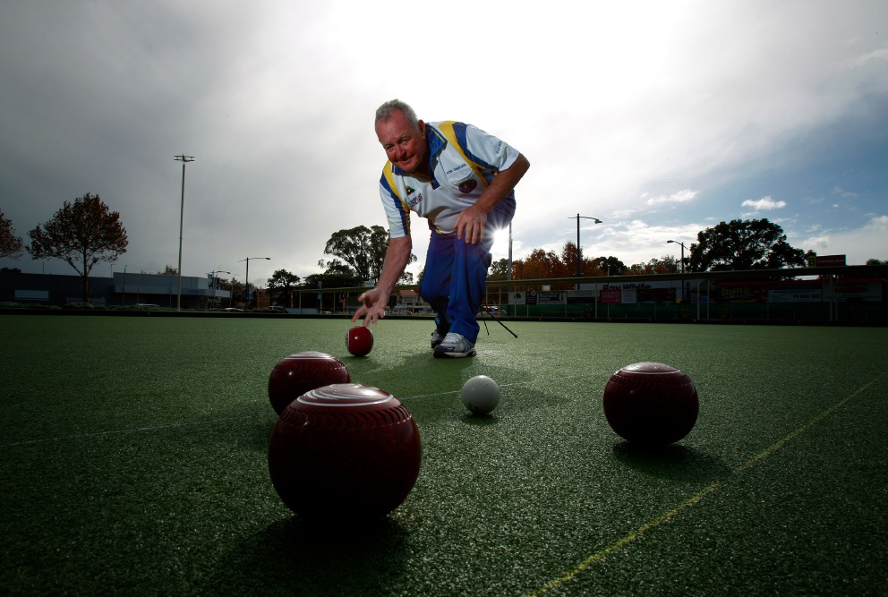 Bowls WA Volunteer of the Year Robert Gibbons. Picture: Marie Nirme www.communitypix.com.au   d455229
