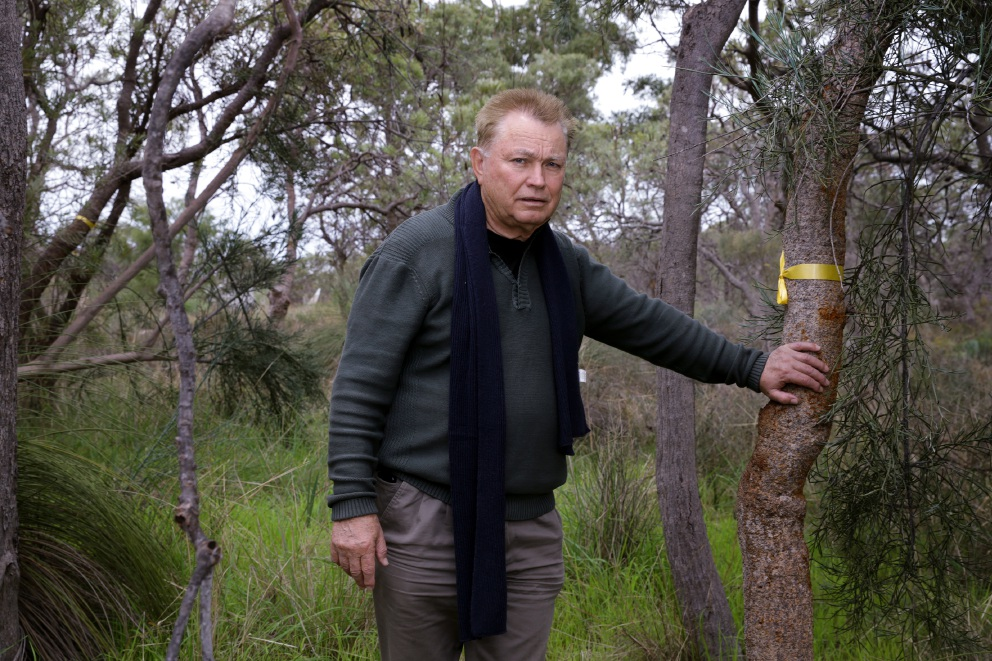Ken Oates is worried about planning repercussions on Carnaby's black cockatoo habitat. Picture: Martin Kennealey           d454491