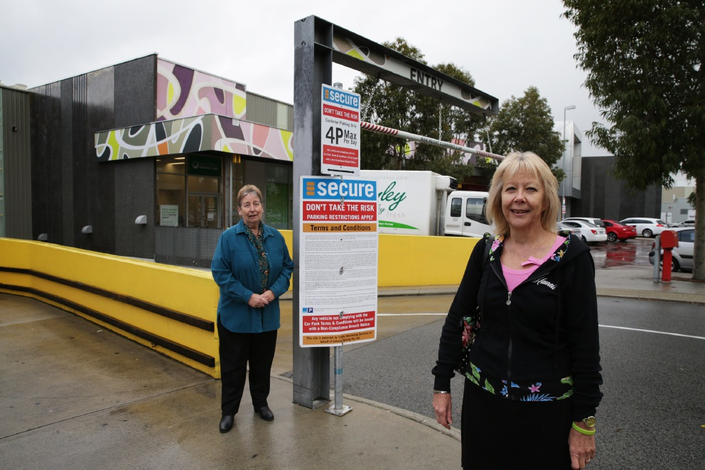 City of Wanneroo councillor Dot Newton with Vivien Vandepeer, who received an infringement. Picture: Martin Kennealey        www.communitypix.com.au   d455227