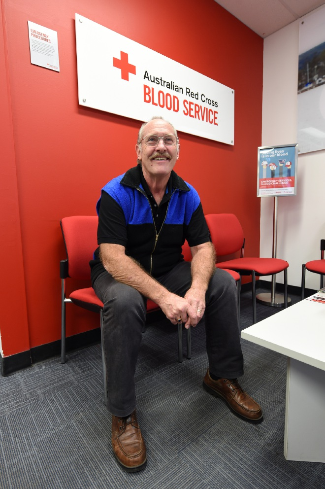 Max Wilsoncroft has donated about 120 litres of blood.