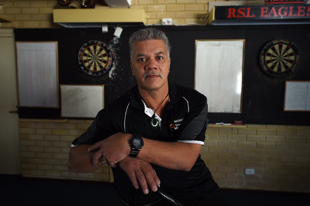 Morahu Heta-Tohu is finally on his way to representing WA in the National Darts Championships in July.  Picture: Jon Hewson        www.communitypix.com.au   d455273