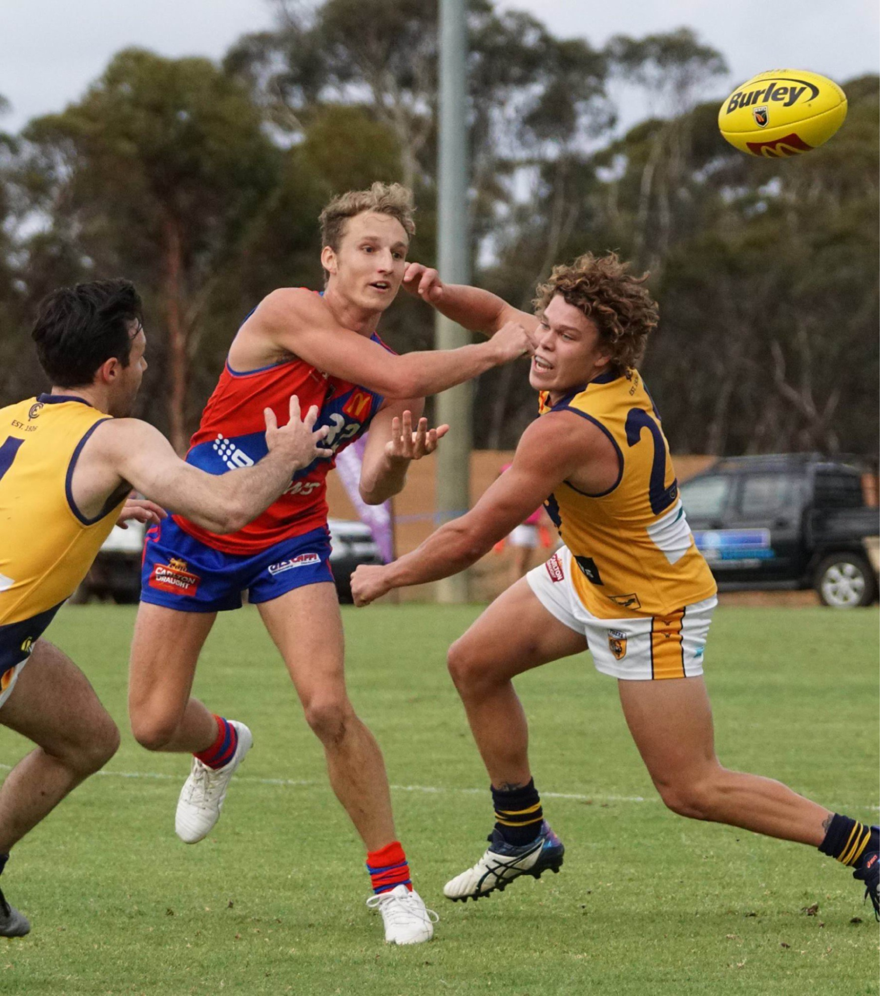 Dean Munns performed well in Kulin the last time the Falcons met the Tigers. Picture: Matt Beilken