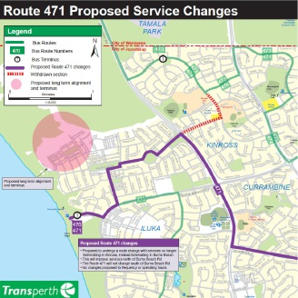 Proposed route change for service 471.