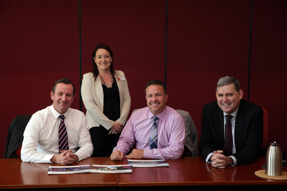 Mark McGowan, Emily Hamilton,Troy Pickard and Ken Travers.       d455351