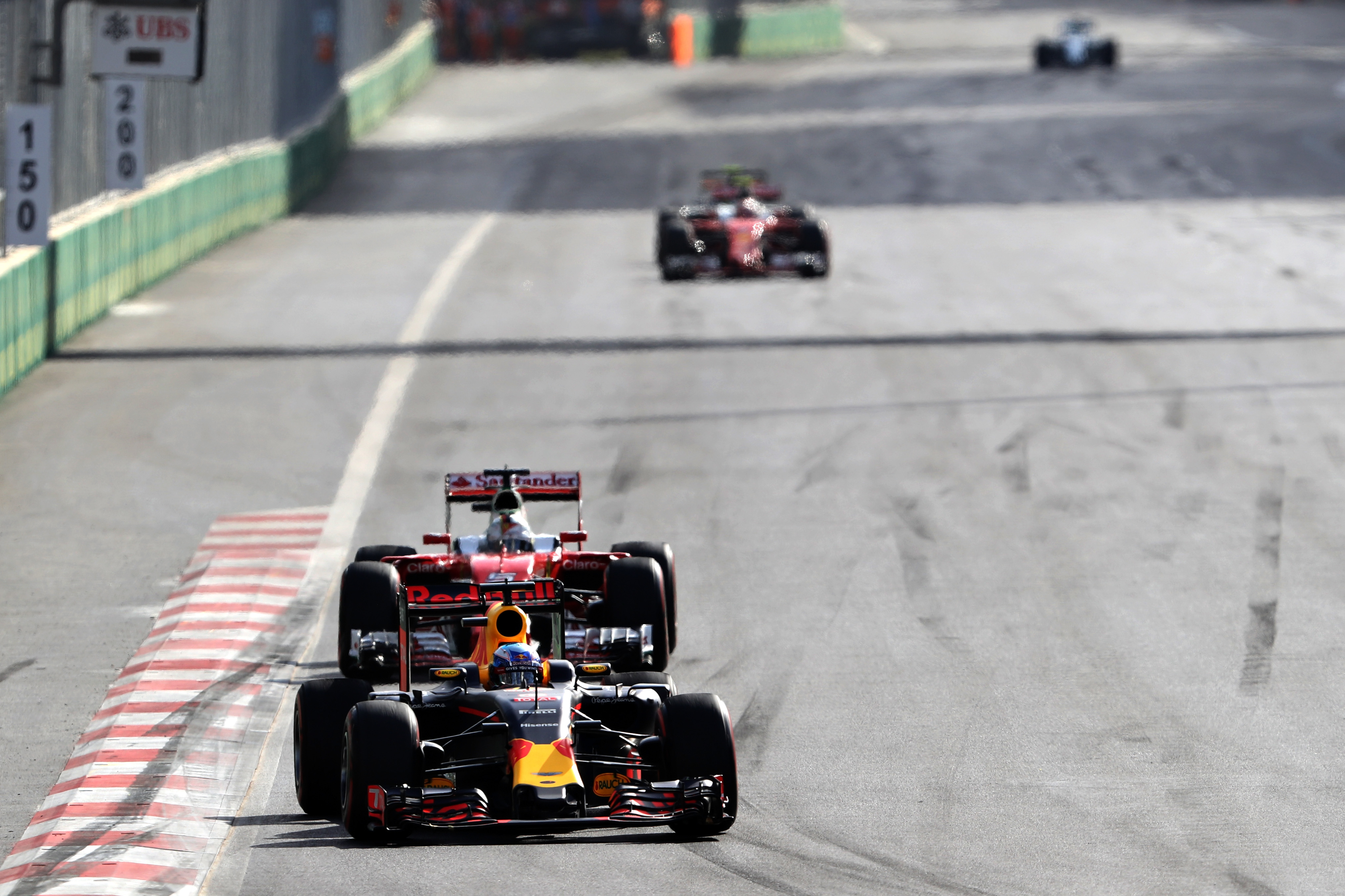 Daniel Ricciardo on track  during the European Formula One Grand Prix at Baku City Circuit in Baku, Azerbaijan. Picture: Mark Thompson/Getty Images