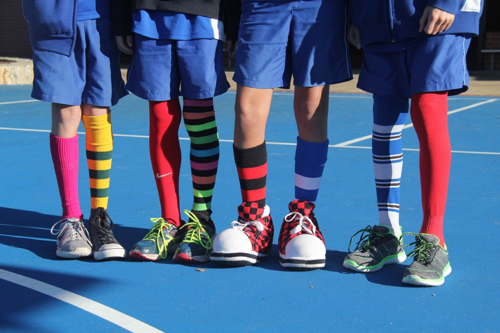 Attadale Primary School students wore odd socks and donated $420 for sarcoma                  research and support.