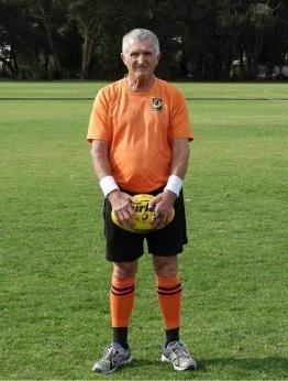 Football field umpire Ron Roebuck.