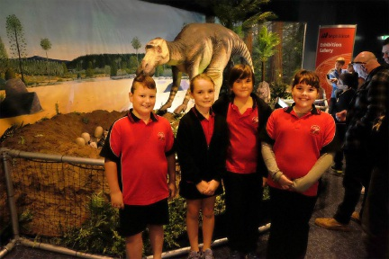 Matthew Robinson, Sarah Johnson, Jamie McLeod and Charlotte Waters at Scitech.