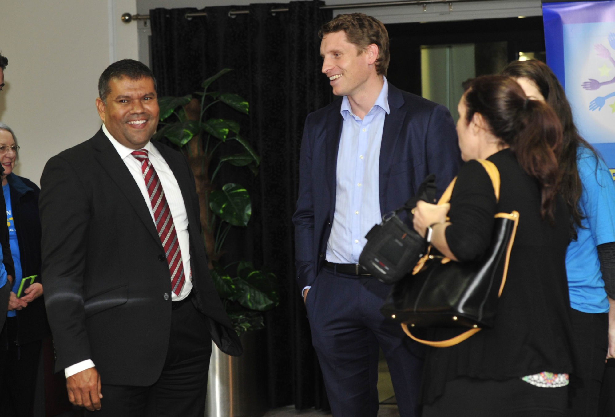 Eleanor Britton from Peel Youth Medical Services with Canning MP Andrew Hastie.