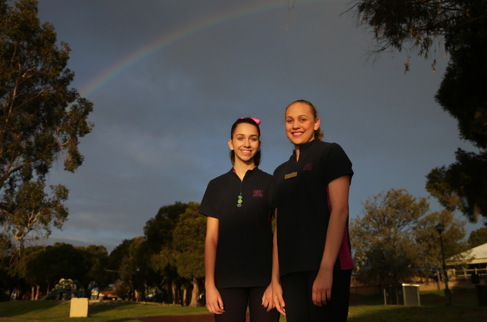 Heather Bongiovanni and Bowanne Chrisp are heading to New Zealand. Picture: Martin Kennealey d455467