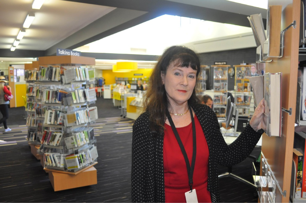 Melville Library Services co-ordintator Alison Mudgway.
