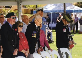 Heathridge resident and WWII Naval Officer, spoke at a Rememberance Day service at Joondalup
