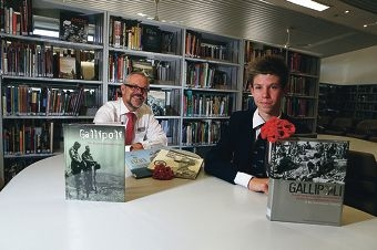 Gallipoli-bound: James McNeill and Jack Ball.