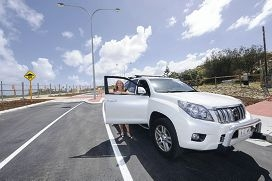 Wanneroo Mayor Tracey Roberts on Brazier Road before it was reopened on November 7.