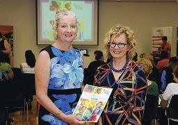Mayor Tracey Roberts and acting Commissioner for Children and Young People Jenni Perkins.