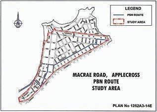 The Macrae Road Study Area.