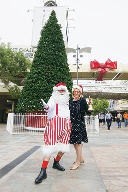 Lord Mayor Lisa Scaffidi and Santa gear up for the festive season.