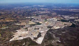 A satellite view of Ellenbrook. Picture: supplied.