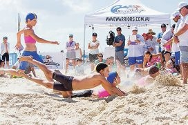 The Wave Warriors Junior Challenge held at Mullaloo Surf Life Saving Club.