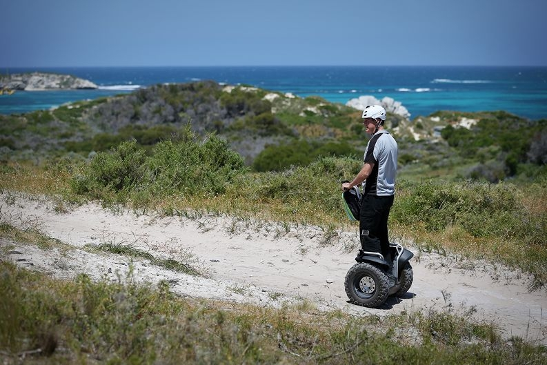 Owen Williams, director of Segway Tours WA, which won gold at the WA Tourism Awards.
