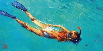 Endless Blue by Alix Korte, oil on canvas, will be on show at the Salt exhibition.