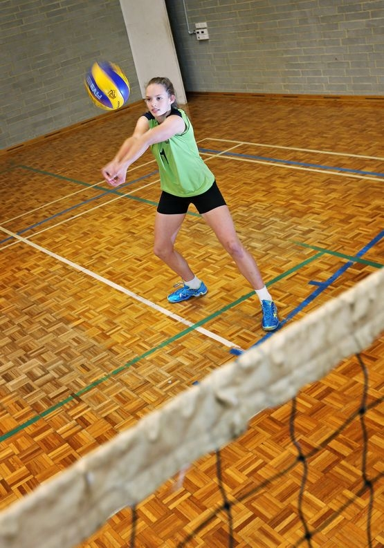 Courting success: Volleyball player Victoria Wells.