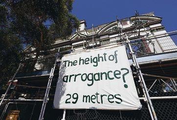 Activists' reaction to the multi-storey development . Picture: Matt Jelonek d428815