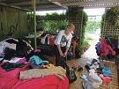 Op shop volunteer Claire Smith.