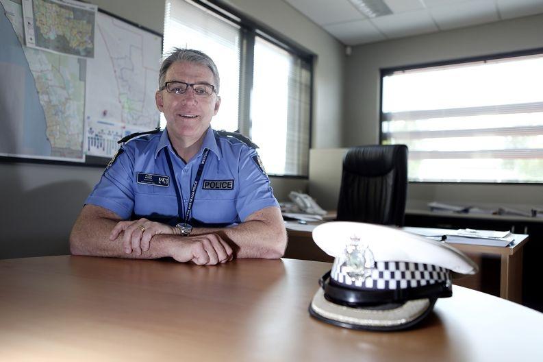 Superintendent Allan Adams . Picture: Emma Goodwin www.communitypix.com.au d428495
