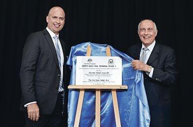 WA Transport Minister Dean Nalder and Deputy Prime Minister Warren Truss.