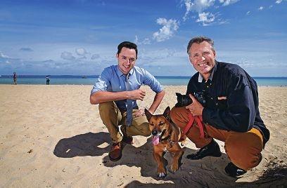 LtoR: John Dobson (Editor Weekend Courier), Kingsley Klau (Owner Photo Coffee)