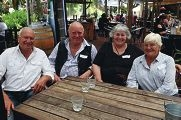 From Left: John Spence, Bill and Cherryl Dewar, Joan Spence. Seniors Week excursion organised by the Shire of Gingin