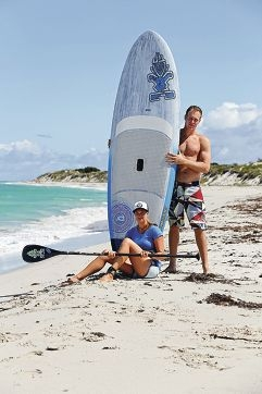 SUP enthusiasts Kris Reimers and Yorik Hardy.