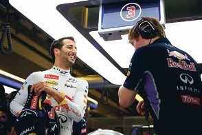 Daniel Ricciardo looked relaxed in the lead-up to his final race of the season. Picture: Getty Images