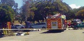 The scene of the accident. Picture: Graham Schembri
