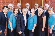 The members of Tuxedo Junction choir group.