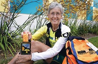 A triumphant Julie Kerr back from Hawaii. Picture: Elle Borgward www.communitypix.com.au d428793