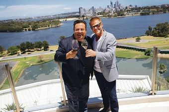 Peter Gilmore and Heston Blumenthal toasting WA's cuisine culture.
