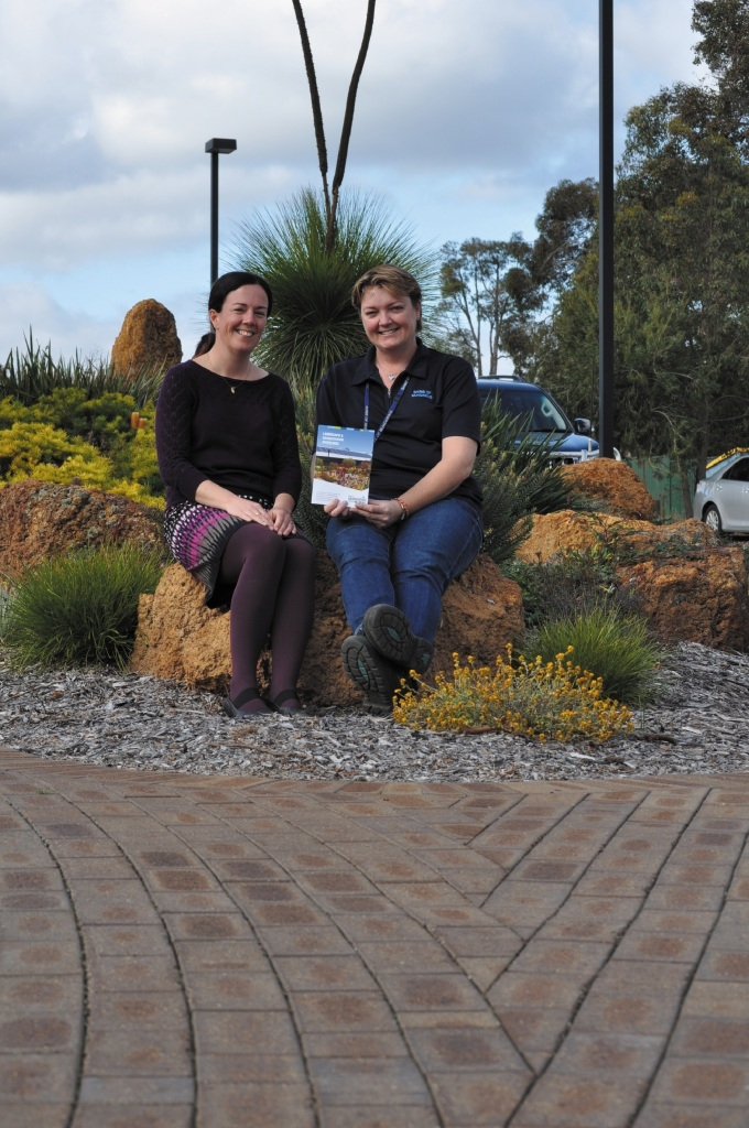 Environmental projects officer Jolene Wallington and Toni Burbidge with the guidelines.