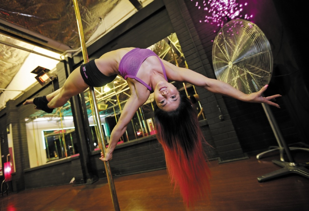 Dianella's Ruby Lai will compete in the Miss Pole Dance Australia WA competition next month. Picture: David Baylis. d439225