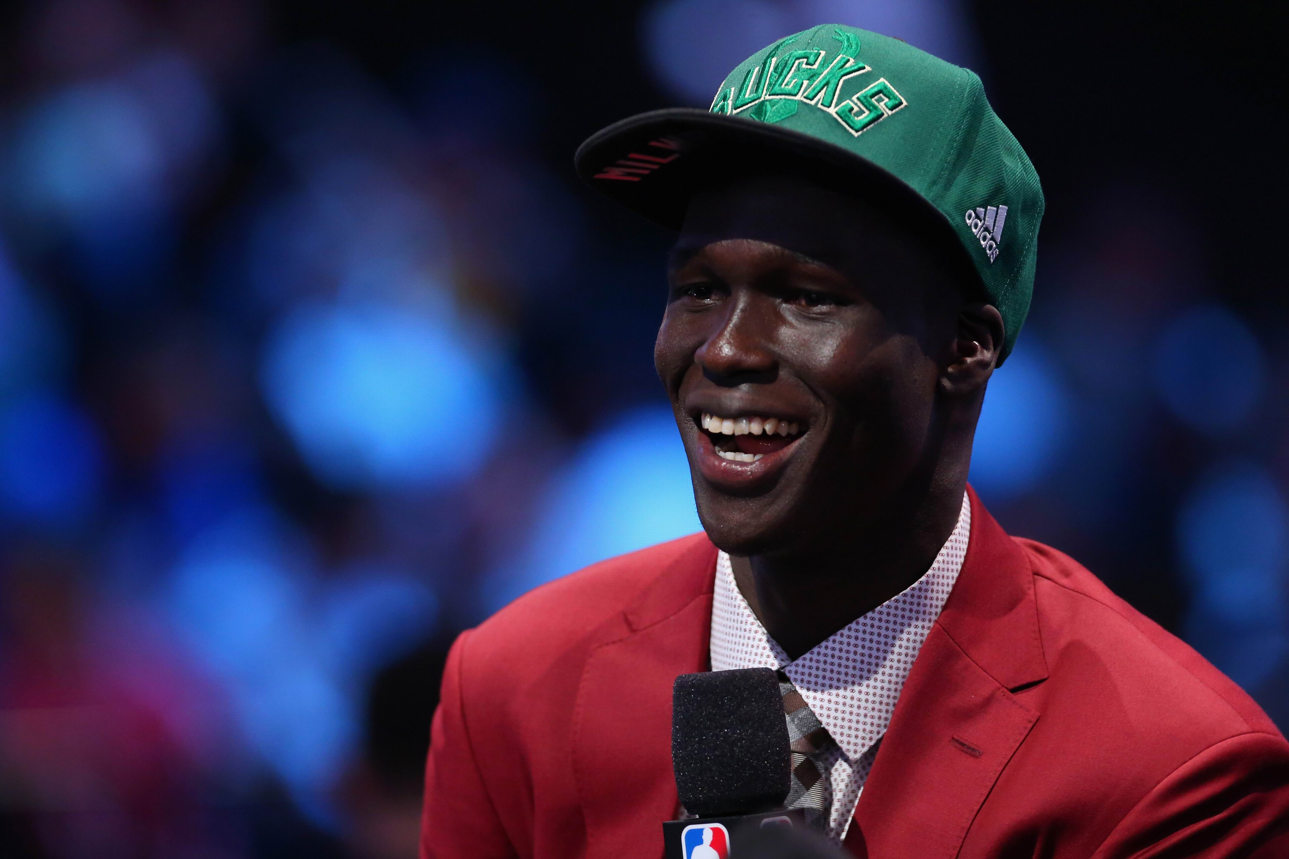 Thon Maker after hearing he'd been drafted by Milwaukee.