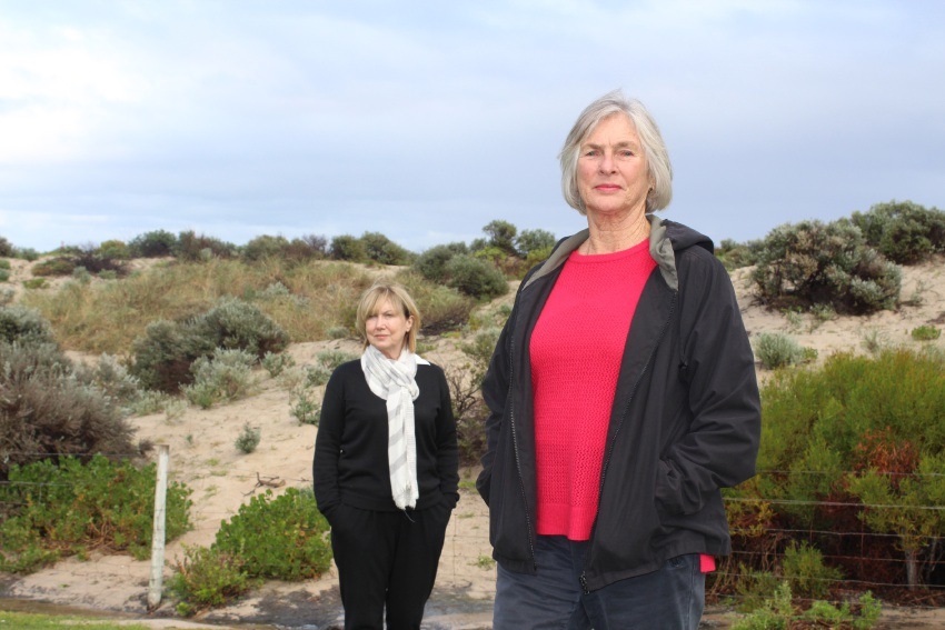 Beth Kennedy, of Save Our Sand Dunes, and Robyn Murphy, of Friends of Trigg Beach. Picture: Kate Leaver