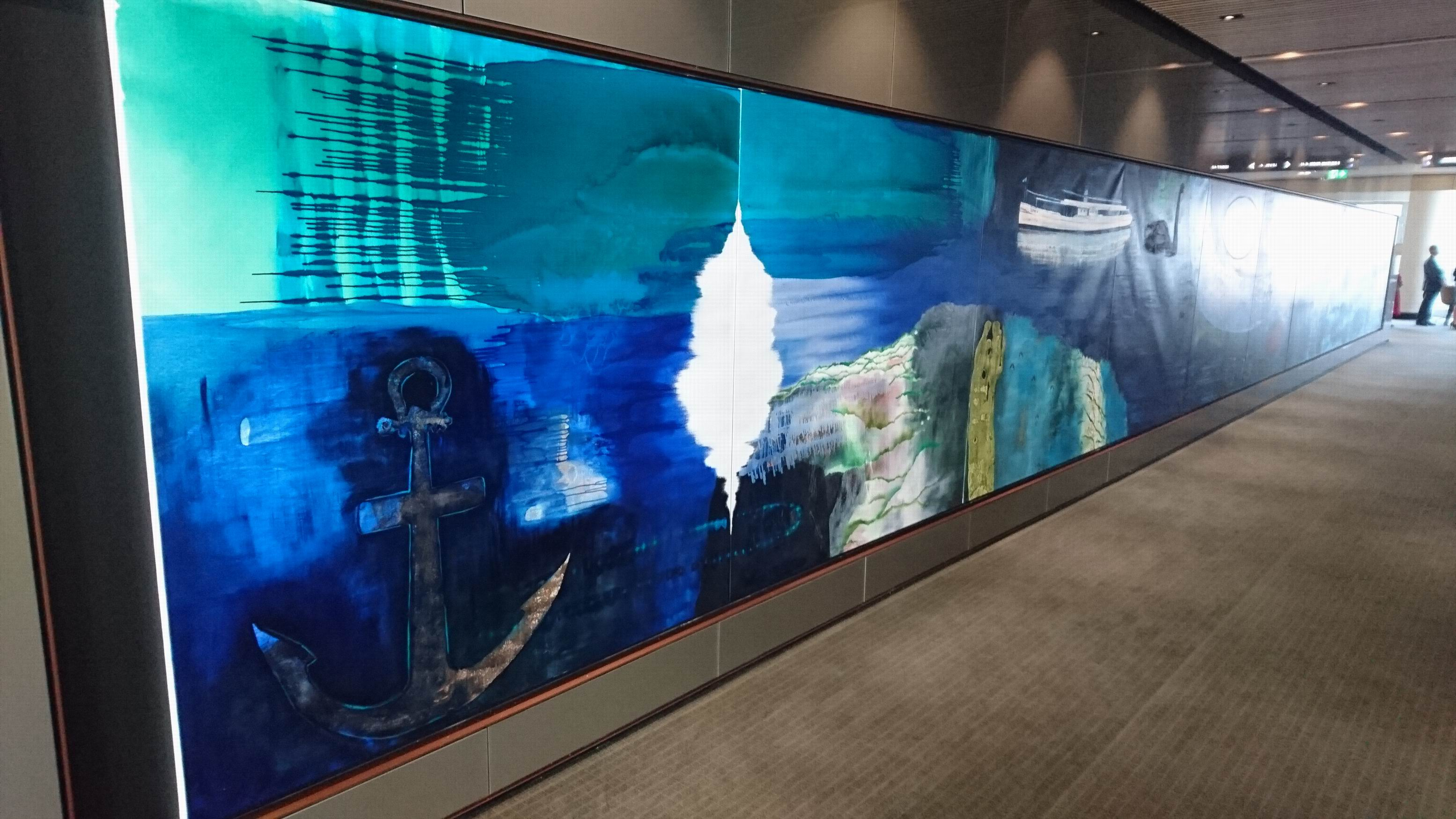 An 18-metre oil painting by artist Jo Darbyshire.