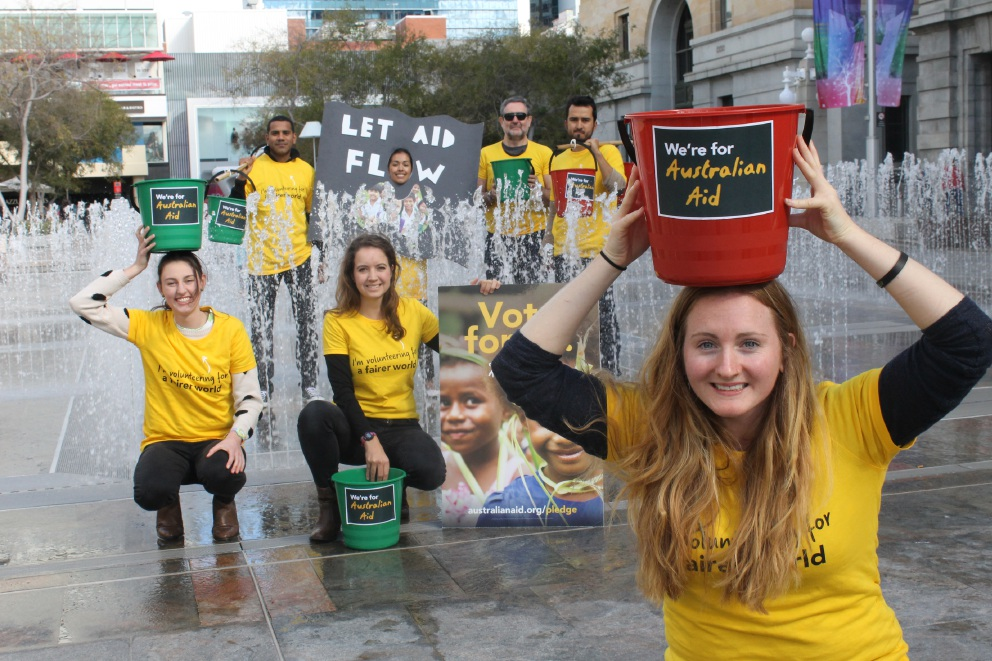 Ocean Reef resident Sarah Laundy is organising the Bucket Walk for Australian Aid.